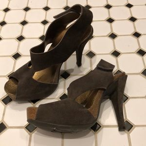 Pedro Garcia Patty sandals olive brown heels 7.5
